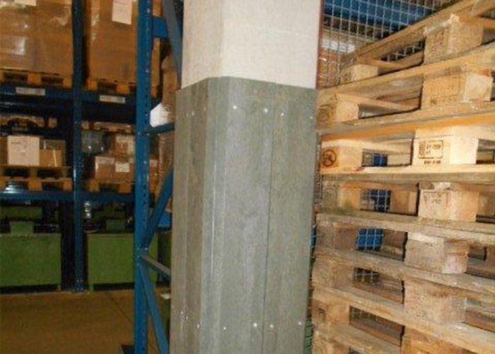 Referenzen Säulenschutz für Produktion und Lager.