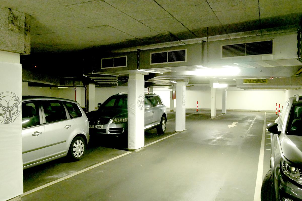 Säulenschutz für Parkhäuser und Tiefgaragen. Green Tera Protect Systeme schützen ihre Gebäude.