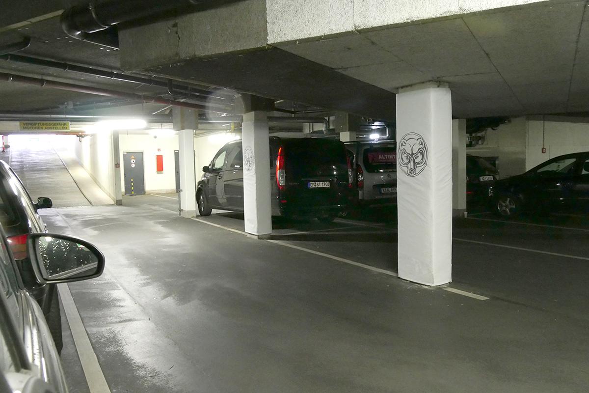 Referenzen Säulenschutzsysteme für Tiefgarage und Parkhaus